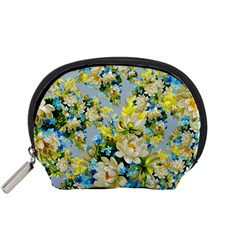 Vintage Floral Pattern Accessory Pouches (Small)