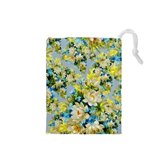 Vintage Floral Pattern Drawstring Pouches (Small)