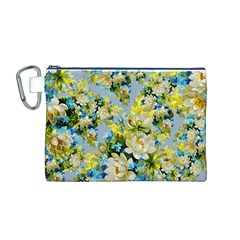 Vintage Floral Pattern Canvas Cosmetic Bag (M)