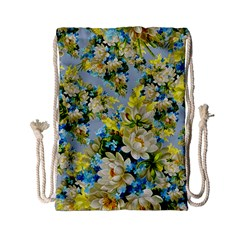 Vintage Floral Pattern Drawstring Bag (Small)