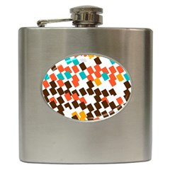 Rectangles on a white background Hip Flask (6 oz)