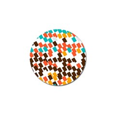 Rectangles on a white background Golf Ball Marker (10 pack)