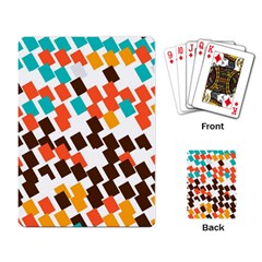 Rectangles on a white background Playing Cards Single Design