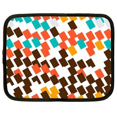 Rectangles on a white background Netbook Case (XXL)