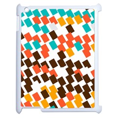 Rectangles On A White Background Apple Ipad 2 Case (white)