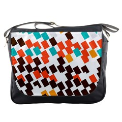Rectangles on a white background Messenger Bag