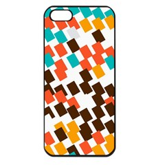 Rectangles on a white background Apple iPhone 5 Seamless Case (Black)