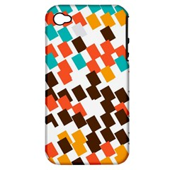 Rectangles on a white background Apple iPhone 4/4S Hardshell Case (PC+Silicone)