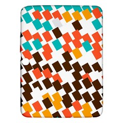 Rectangles on a white background Samsung Galaxy Tab 3 (10.1 ) P5200 Hardshell Case