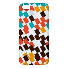 Rectangles on a white background iPhone 5S Premium Hardshell Case