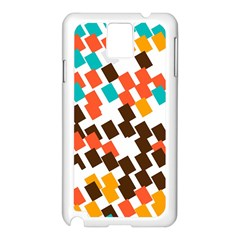 Rectangles on a white background Samsung Galaxy Note 3 N9005 Case (White)
