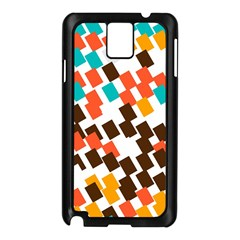 Rectangles on a white background Samsung Galaxy Note 3 N9005 Case (Black)