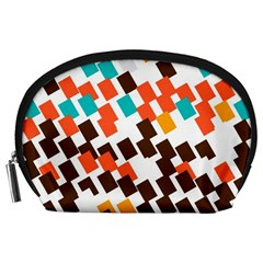 Rectangles On A White Background Accessory Pouch
