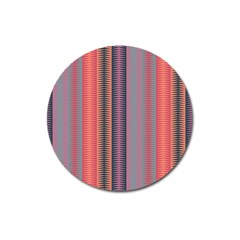 Triangles and stripes pattern Magnet 3  (Round)