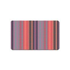 Triangles and stripes pattern Magnet (Name Card)