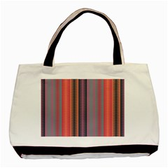 Triangles and stripes pattern Basic Tote Bag
