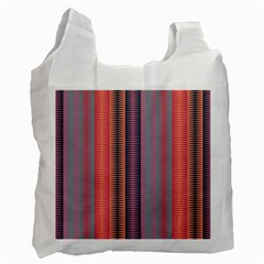 Triangles and stripes pattern Recycle Bag (One Side)