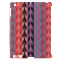 Triangles and stripes pattern Apple iPad 3/4 Hardshell Case (Compatible with Smart Cover)