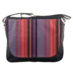 Triangles and stripes pattern Messenger Bag