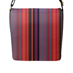Triangles and stripes pattern Flap Closure Messenger Bag (L)