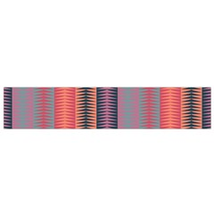 Triangles And Stripes Pattern Flano Scarf