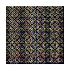 Multicolored Ethnic Check Seamless Pattern Tile Coasters