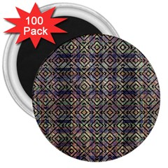 Multicolored Ethnic Check Seamless Pattern 3  Magnets (100 pack)