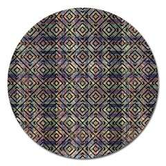 Multicolored Ethnic Check Seamless Pattern Magnet 5  (Round)