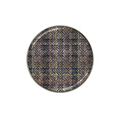 Multicolored Ethnic Check Seamless Pattern Hat Clip Ball Marker (4 pack)