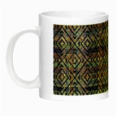 Multicolored Ethnic Check Seamless Pattern Night Luminous Mugs