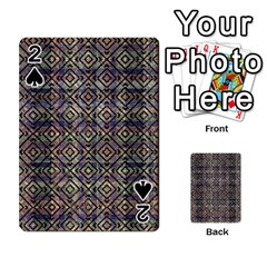 Multicolored Ethnic Check Seamless Pattern Playing Cards 54 Designs