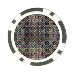 Multicolored Ethnic Check Seamless Pattern Poker Chip Card Guards