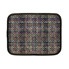 Multicolored Ethnic Check Seamless Pattern Netbook Case (Small)
