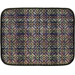 Multicolored Ethnic Check Seamless Pattern Double Sided Fleece Blanket (mini)