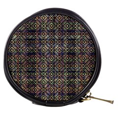 Multicolored Ethnic Check Seamless Pattern Mini Makeup Bags