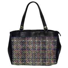 Multicolored Ethnic Check Seamless Pattern Office Handbags (2 Sides)
