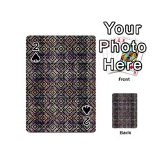 Multicolored Ethnic Check Seamless Pattern Playing Cards 54 (mini)