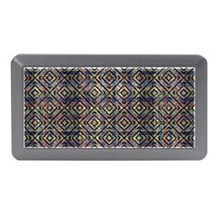Multicolored Ethnic Check Seamless Pattern Memory Card Reader (Mini)