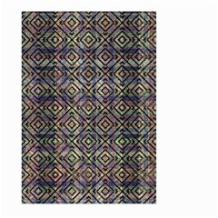 Multicolored Ethnic Check Seamless Pattern Large Garden Flag (two Sides)
