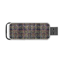 Multicolored Ethnic Check Seamless Pattern Portable Usb Flash (one Side)