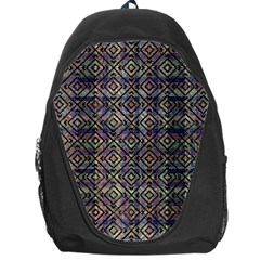 Multicolored Ethnic Check Seamless Pattern Backpack Bag
