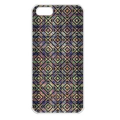 Multicolored Ethnic Check Seamless Pattern Apple iPhone 5 Seamless Case (White)