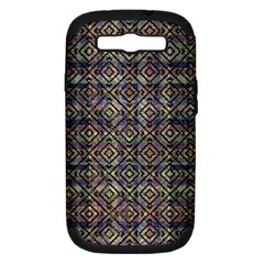 Multicolored Ethnic Check Seamless Pattern Samsung Galaxy S III Hardshell Case (PC+Silicone)