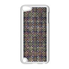 Multicolored Ethnic Check Seamless Pattern Apple iPod Touch 5 Case (White)