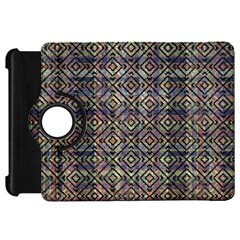 Multicolored Ethnic Check Seamless Pattern Kindle Fire HD Flip 360 Case