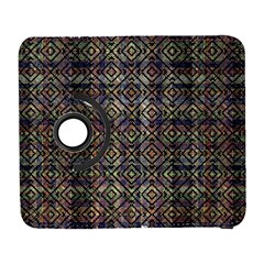 Multicolored Ethnic Check Seamless Pattern Samsung Galaxy S  III Flip 360 Case