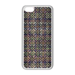 Multicolored Ethnic Check Seamless Pattern Apple iPhone 5C Seamless Case (White)
