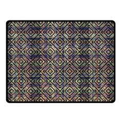 Multicolored Ethnic Check Seamless Pattern Double Sided Fleece Blanket (Small)