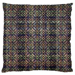 Multicolored Ethnic Check Seamless Pattern Large Flano Cushion Cases (two Sides)
