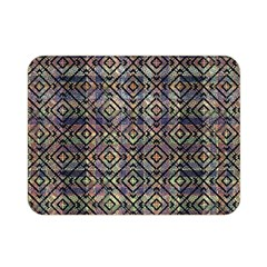 Multicolored Ethnic Check Seamless Pattern Double Sided Flano Blanket (mini)